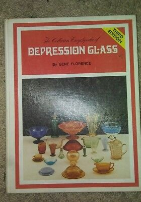 The Collectors Encyclopedia of Depression Glass by Gene Florence 3rd ed. 1977 HC