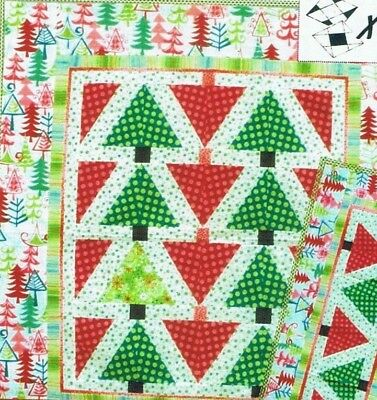 Lone Pine Xblocks Christmas Tree Quilting Pattern Quilt Queen