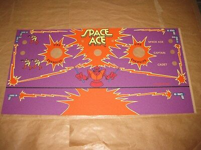 Dedicated SPACE ACE Control Panel Overlay DON BLUTH 1984 Official Reproduction