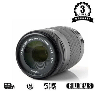 BRAND NEW Canon EF-S 55-250mm f/4-5.6 STM IS Lens UK DISPATCH