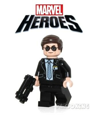MARVEL AVENGERS - AGENT COULSON - SHIELD - fit lego figure (A11)