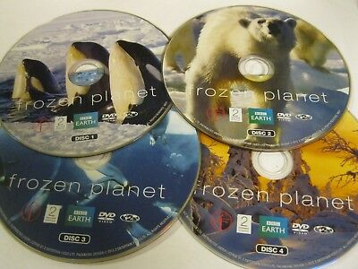 FROZEN PLANET  - 4 disc set - choose English from Audio - DISC ONLY (DS20) {DVD}