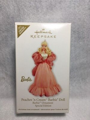 Hallmark Keepsake Peaches 'n Cream Barbie Doll Ornament Special Edition 2011