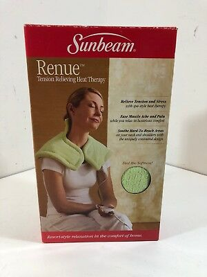 Sunbeam Renue Tension Relieving Heat Therapy Neck And Shoulder Wrap, Green
