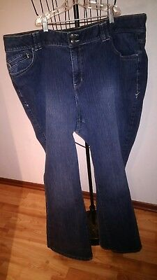 Lane Bryant Womens Size 22 AVG Stretch Bootcut Jeans Tighter Tummy Technology