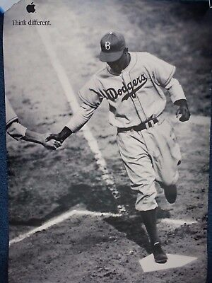 Apple Think Different Poster. Jackie Robinson, 24x36