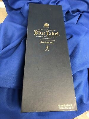 Empty Johnnie Walker 750ml Blue Label Bottle And Box