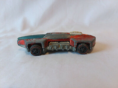 Vintage 1970 Hot Wheels redline What-4 red Mattel Hong Kong very worn