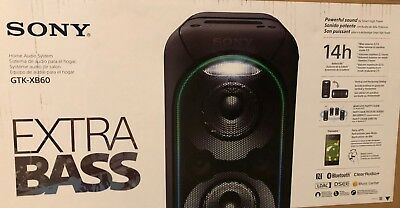 Sony GTK XB60 Bluetooth, wired, portable speaker home audio system with battery