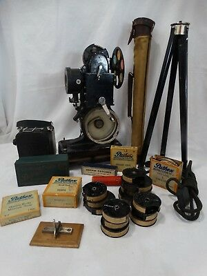 Vintage Pathex Projector, Hand Crank Camera, Movies, Film Cutter And More