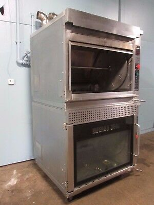 """""""HARDT INFERNO 3500"""" COMMERCIAL NAT-GAS DBL STACK ROTISSERIE OVENS w/AUTO CLEAN"""