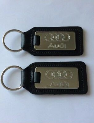 Audi Key Rings X 2 Brand New On Genuine English Leather