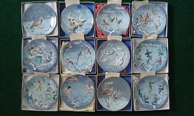 Haviland Limoges 12 Days of Christmas Plates *Complete Set in Boxes