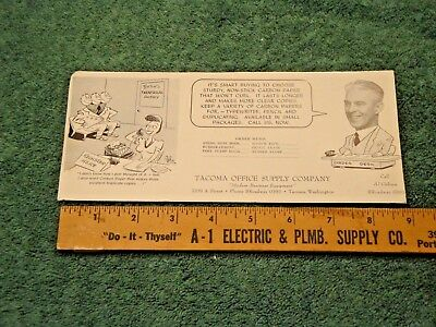 Vintage Tacoma Office Supply Co Tacoma Wa Blotter Unused