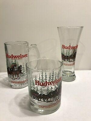 Budweiser Clydesdale Mugs. Set Of Three.