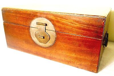 Antique Chinese Ming Stationery Chest (2599), Camphor Wood, Circa 1800-1849