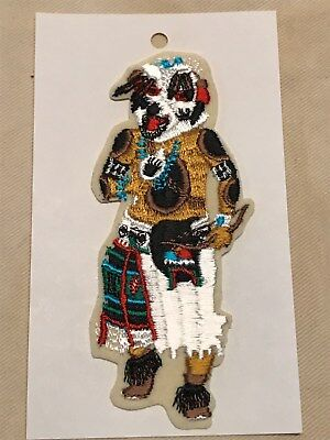 native american bear kachina sew on patch
