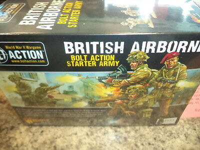 British Airborne Army Starter Set Bolt Action WWII Warlord Games Models New!