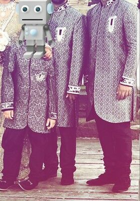 mens sharwani grey for wedding. Sherwani size m (worn once)