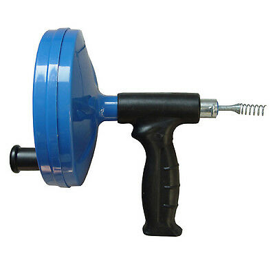 Hand Spin Plumbing Drain Cleaner Spin Thru Drain Auger Spring Cable 25 Feet