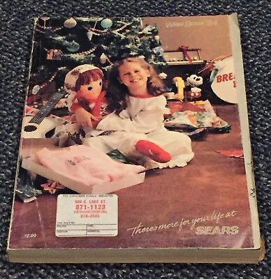 RARE Vintage 1984 Sears Wish Book Christmas Holiday Catalog 1980's Toys