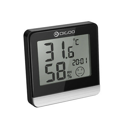 Digoo DG-BC20 Bathroom LCD Digital Thermometer with Time Comfort Level Display