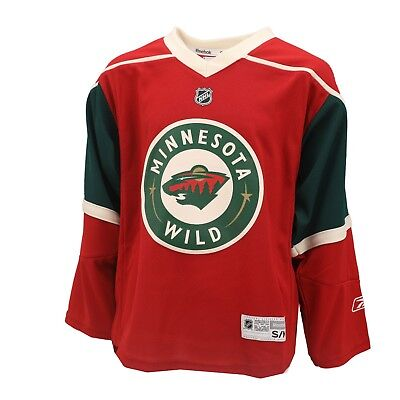 Minnesota Wild Official NHL Reebok Kids Youth Size Hockey Jersey New with  Tags 65fc6416e