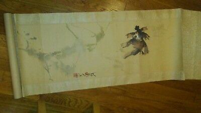 Antique Japanese Scroll Painting