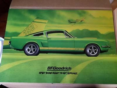 Bf Goodrich Sign Of A 1966 Ford Shelby Gt 350 Mustang  Poster