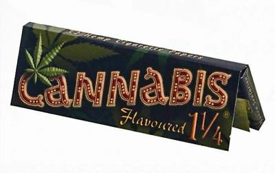 Cannabis Flavoured 1 1/4 Size Hemp Cigarette Tobacco Rolling Papers 32 Leaves