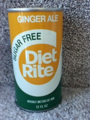 Diet Rite Sugar Free Ginger Ale(1976). Straight steel,pull top. No bar or ml