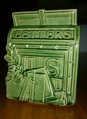 VINTAGE ORIGINAL McCOY POTTERY MAIL BOX, LETTERS, WALL POCKET, 1951