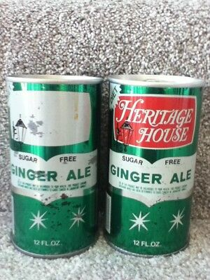 Heritage House Ginger Ale. One can came off press without the red ink.