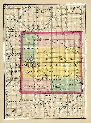 1873 MICHIGAN state atlas 84 maps antique history TREASURE HUNTING old roads DVD