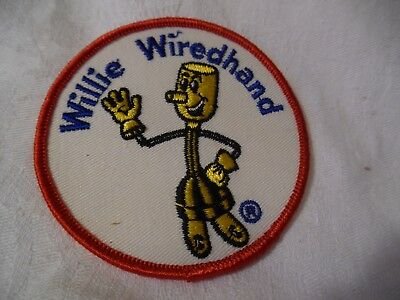Vtg Electric Power Reddy Kilowatt Willie Wirehand EMBROIDERED PATCH NEW OLD STOC