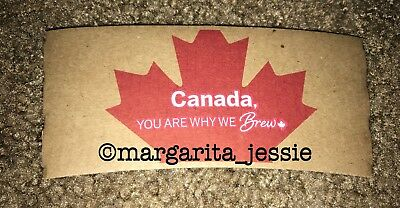 """Tim Hortons Coffee Paper Sleeve """"you Are Why We Brew"""" Canada French Brown New"""