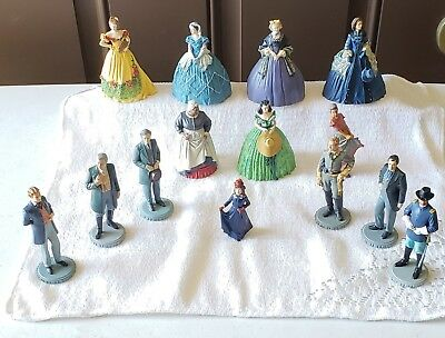 Gone With the Wind Franklin Mint Figurine set of 14