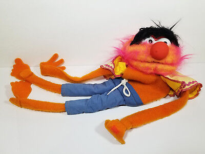 FISHER PRICE MUPPETS ANIMAL Vintage 1978 PUPPET PLUSH TOY #854 Show Jim Henson