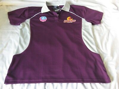 Firebirds Qld Netball Game Day supporter Polo shirt Ladies Women 18 ANZ Maroon