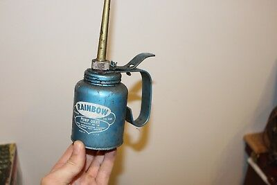 Vintage Eagle Rainbow Hydraulic Pump Oiler  10 OZ