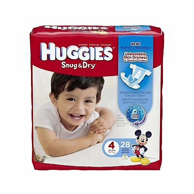 Huggies Snug & Dry Diapers, Size 4, 28 ct