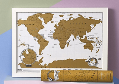 Luckies Scratch Map Keep track of your travels