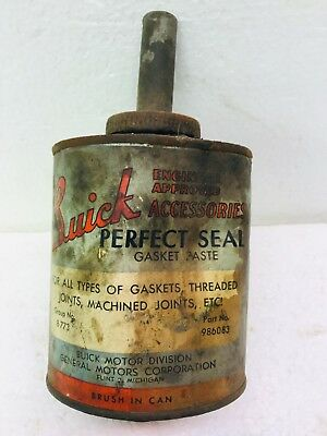 Vintage Brush In A Can W Paper Label Buick Gasket Paste GM Engine Wildcat GS GNX