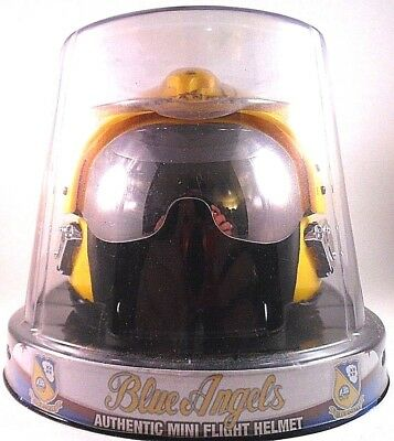 Signed US Navy Blue Angels Authentic Mini Flight Gear Helmet Fox-2 Flight-gear