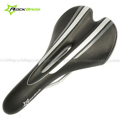 ROCKBROS Cycling Bicycle Saddle Road Bike MTB Seat Steel Rail Hollow Black