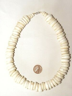 Huge Large Vintage Hawaiian Puka Shell Necklace 17.5 Inches 199 Grams Statement