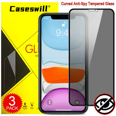 Full Cover 9D Tempered Glass Privacy Screen Protector for iPhone X XS XR XS Max