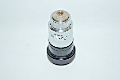 Carl Zeiss Plan 25/0.45 160/0.17 Microscope Objective Lens 4197576 Germany