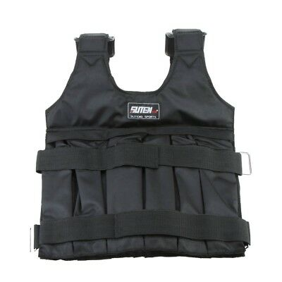 Max Loading 50kg Adjustable Weighted Vest Weight Jacket Exercise Boxing