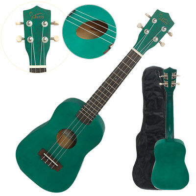"23"" Green Concert Ukulele Guitar Basswood 15 Frets Hawaiian Instrument w/ Bag"